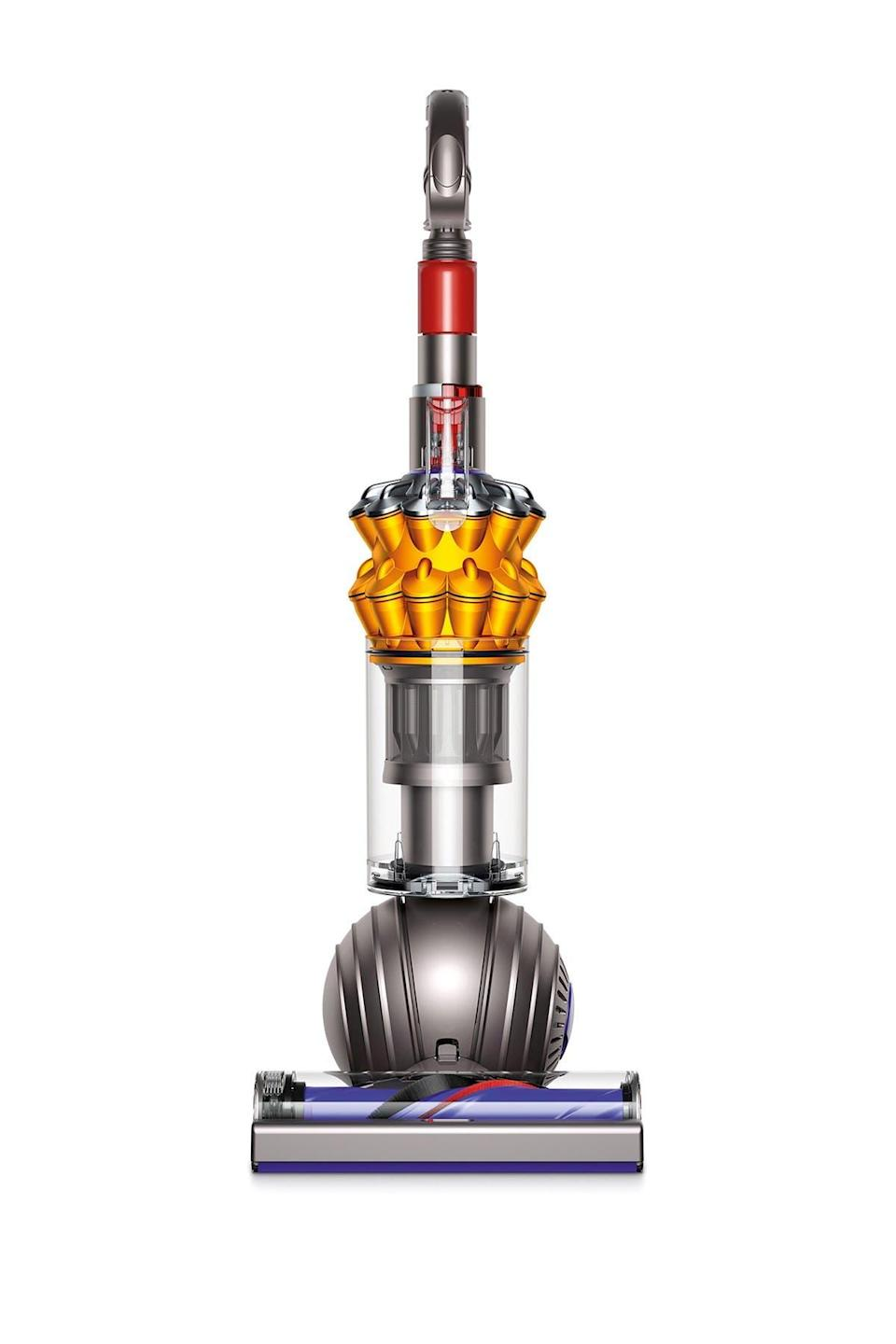 "<br><br><strong>Dyson</strong> UP15 Small Ball Multi Floor Upright Vacuum - Refurbishe, $, available at <a href=""https://go.skimresources.com/?id=30283X879131&url=https%3A%2F%2Fwww.nordstromrack.com%2Fs%2Fdyson-iron-yellow-up-15-small-ball-multi-floor-upright-vacuum-refurbished%2Fn3229585"" rel=""nofollow noopener"" target=""_blank"" data-ylk=""slk:Nordstrom Rack"" class=""link rapid-noclick-resp"">Nordstrom Rack</a>"