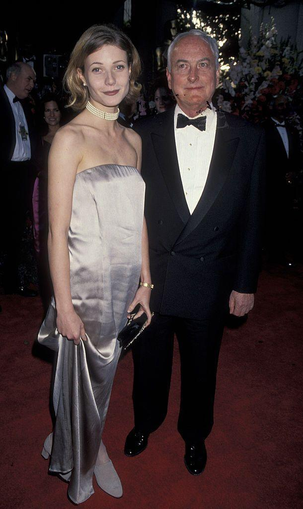 <p>Though she didn't win an Oscar until 1999, the star attended in 1994 and posed with film director James Ivory.</p>
