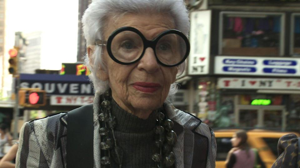 "<p><strong><em>Iris</em></strong>(2014)</p><p>Iris Apfel is a fashion icon — and<a href=""https://www.refinery29.com/2017/03/141976/best-netflix-documentaries"" rel=""nofollow noopener"" target=""_blank"" data-ylk=""slk:after watching this documentary,"" class=""link rapid-noclick-resp""> after watching this documentary,</a> you'll want her to be your best friend, too. Over the course of her long life, Apfel pursued her passion for interesting items. She became a collector and interior designer. She and her very devoted husband used to roam the world, running their business and pursuing adventure. The documentary was filmed when Apfel was 93 and her husband was 99, and both were still working, though on a less-hectic schedule.</p><p><strong>Why You Should Watch It:</strong> Apfel Iris is a larger-than-life figure. She devoted her life to pursuing her passions and happened to become very successful doing so. Aside from highlighting Apfel's ambition, the movie also celebrates the relationship that bolstered Apfel her whole life.</p>"