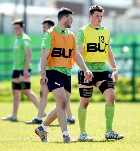 Robbie Henshaw and Eoghan Masterson