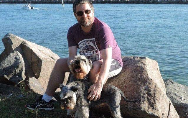 Kirk said he became enraged once the notes mentioned their beloved pet dogs. Source: Supplied