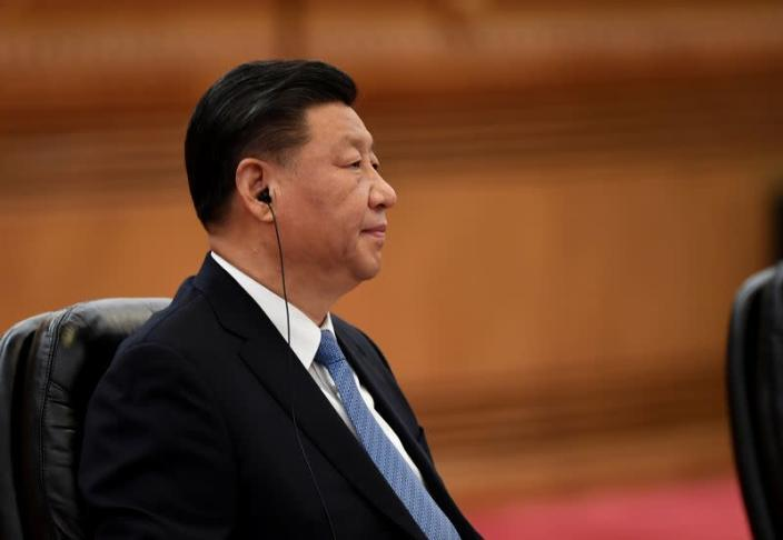 China's President Xi Jinping speaks during a meeting at the Great Hall of the People in Beijing