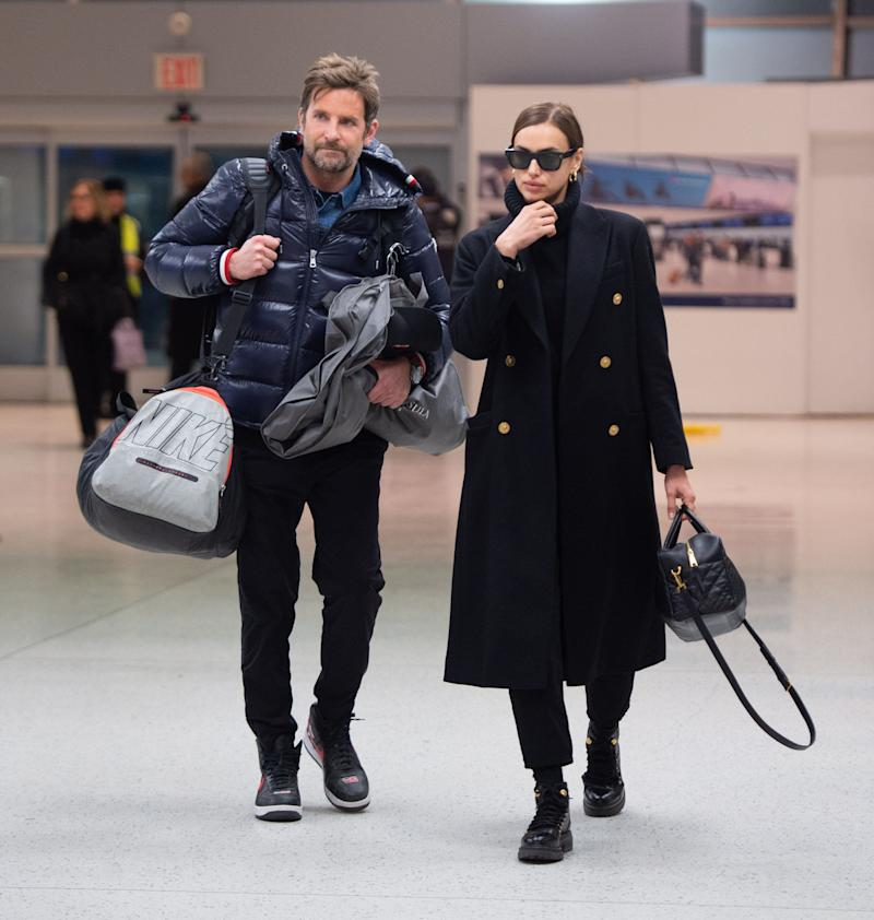 Bradley Cooper and Irina Shayk arrive at JFK airport on February 7, 2019 in New York City. (Photo by ECP/GC Images)