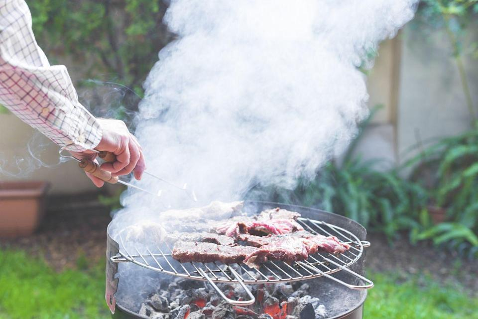 """<p>Don't be shy about turning up the temperature on your grill. You actually want really high heat to make sure it's super, super hot. """"Hot grills make great grill marks that not only look good, but add considerably to the taste,"""" Chef <a href=""""https://www.completeculinaryllc.com/chef"""" rel=""""nofollow noopener"""" target=""""_blank"""" data-ylk=""""slk:Chris Koetke"""" class=""""link rapid-noclick-resp"""">Chris Koetke</a>, author of <em><a href=""""https://www.g-wonlinetextbooks.com/culinary-professional-2017/"""" rel=""""nofollow noopener"""" target=""""_blank"""" data-ylk=""""slk:The Culinary Professional"""" class=""""link rapid-noclick-resp"""">The Culinary Professional</a></em>, tells Woman's Day. </p><p>If you find that your food is charring too fast, Koetke says you can If <br>""""always turn down the heat or move the food to a less hot part of the grill."""" </p>"""