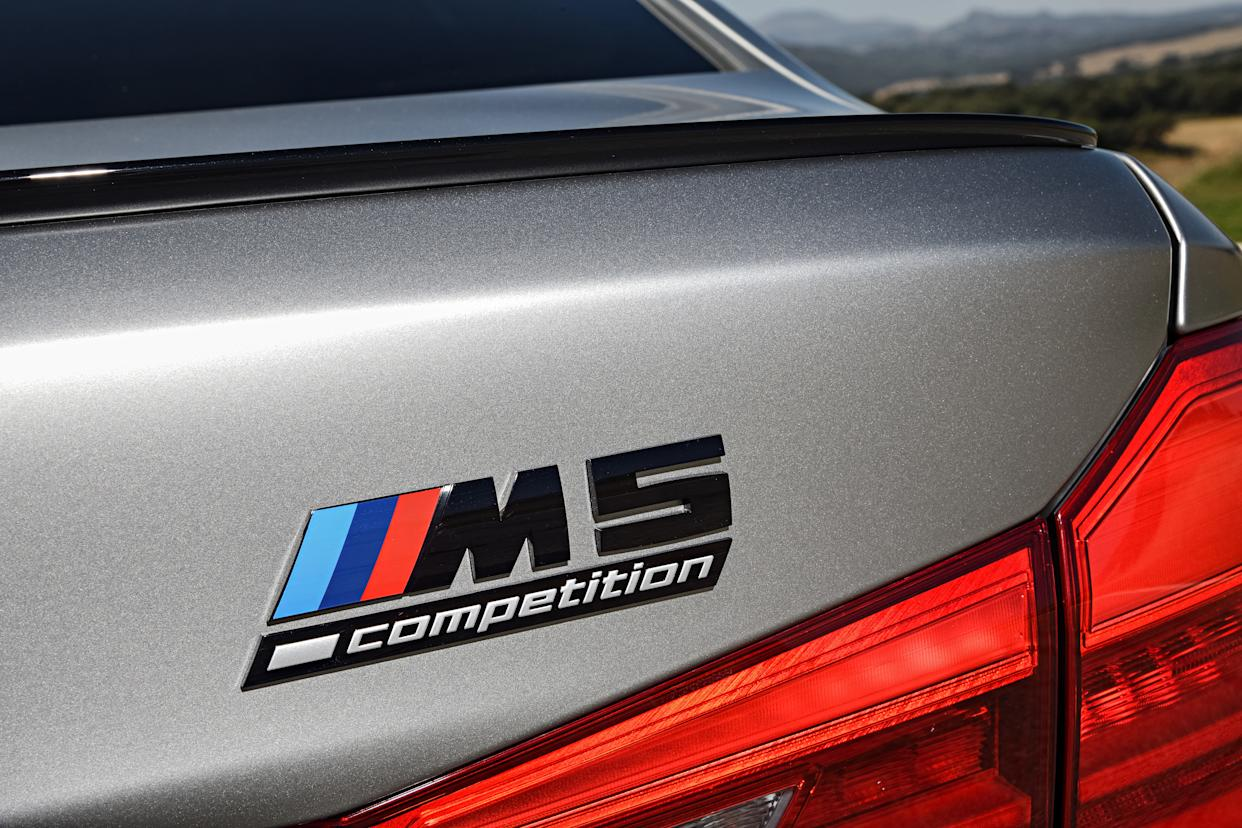 The M5 Competition gets blacked-out badges