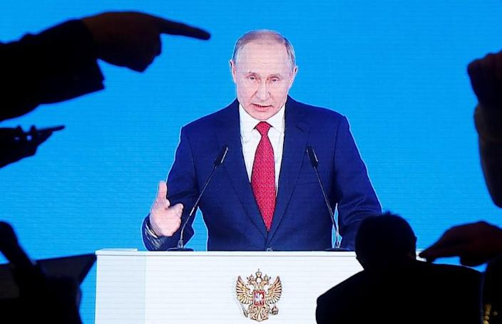 Russian President Vladimir Putin delivers his annual state of the nation address in Moscow