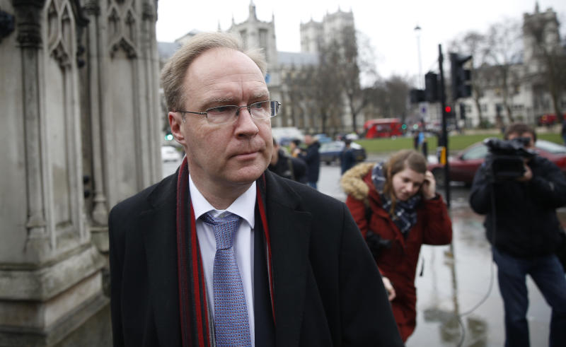 Ivan Rogers, Britain's former permanent representative of the United Kingdom to the European Union. Photo: Neil Hall/Reuters