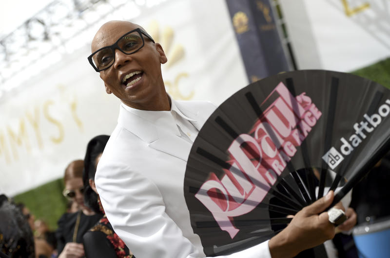 RuPaul Charles arrives at the 70th Primetime Emmy Awards on Monday, Sept. 17, 2018, at the Microsoft Theater in Los Angeles. (Photo by Jordan Strauss/Invision/AP)