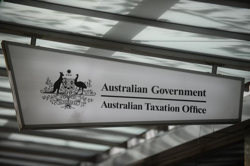 The sign of an Australian Taxation Office shopfront is seen in Canberra, Friday, May 9, 2014.