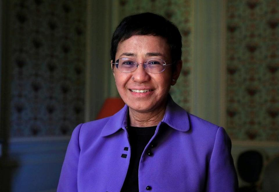 Maria Ressa, journalist and CEO of the Rappler news website (Reuters)