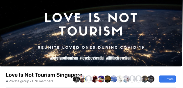Love Is Not Tourism Singapore Facebook page. (PHOTO: Facebook)