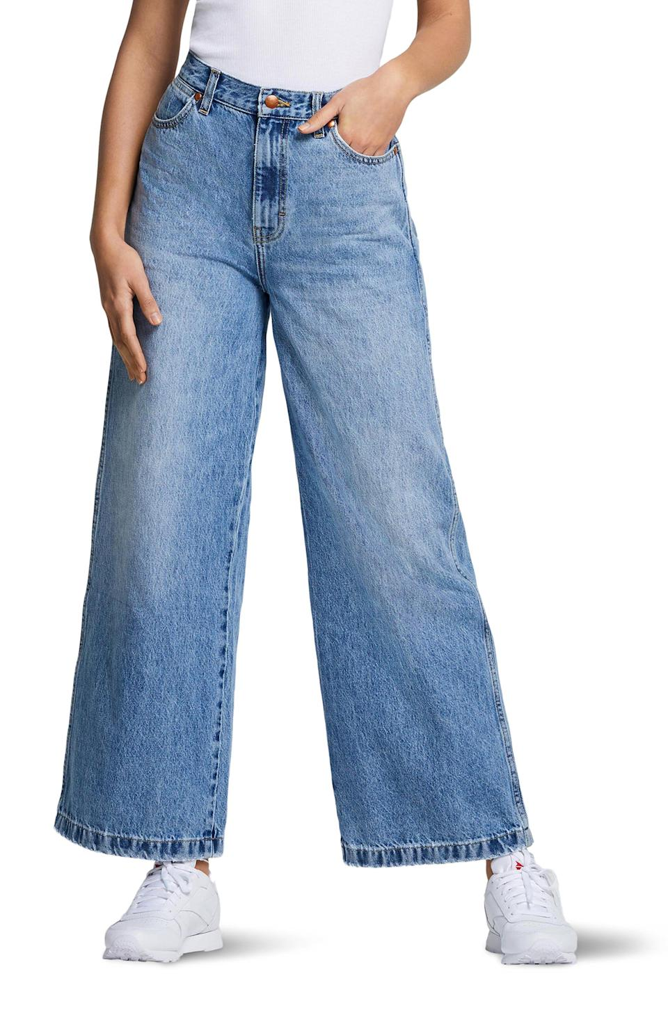 """<p><strong>WRANGLER</strong></p><p>nordstrom.com</p><p><strong>$53.90</strong></p><p><a href=""""https://go.redirectingat.com?id=74968X1596630&url=https%3A%2F%2Fwww.nordstrom.com%2Fs%2Fwrangler-high-waist-wide-leg-jeans-sunny%2F5818517&sref=https%3A%2F%2Fwww.womenshealthmag.com%2Flife%2Fg36999215%2Fviral-tiktok-items-nordstrom-sale%2F"""" rel=""""nofollow noopener"""" target=""""_blank"""" data-ylk=""""slk:Shop Now"""" class=""""link rapid-noclick-resp"""">Shop Now</a></p><p>Yes, these are <em>those</em> jeans that inspired fashion and denim lovers alike to donate all their skinny jeans. The high waist offers comfortable support, and the wide leg gives off a cool, breezy vibe that's perfect for summer.</p>"""