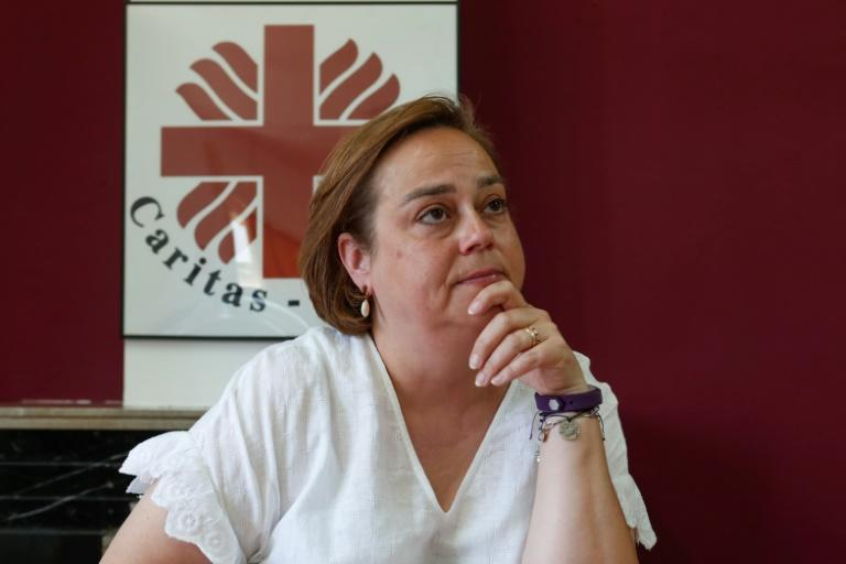 """Executive Manager of Caritas Cyprus Elizabeth Kassinis said the organisation had seen a """"dramatic increase"""" in migrants seeking its help in recent years (AFP Photo/Christina ASSI)"""