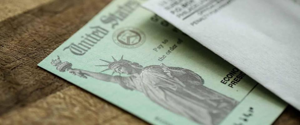 All Americans in the U.S. Treasury Department received an extreme close-up of the Federal Coronavirus Stimulus Check showing the Statue of Liberty in 2020.