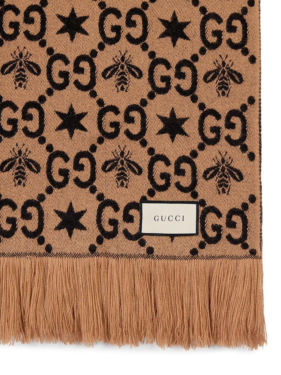 """<p><strong>Gucci</strong></p><p>farfetch.com</p><p><strong>$1100.00</strong></p><p><a href=""""https://go.redirectingat.com?id=74968X1596630&url=https%3A%2F%2Fwww.farfetch.com%2Fshopping%2Fmen%2Fgucci-gg-pattern-throw-blanket-item-14093968.aspx&sref=https%3A%2F%2Fwww.cosmopolitan.com%2Flifestyle%2Fg32613217%2Fbest-throw-blankets%2F"""" rel=""""nofollow noopener"""" target=""""_blank"""" data-ylk=""""slk:Shop Now"""" class=""""link rapid-noclick-resp"""">Shop Now</a></p><p>If you're a big Gucci stan, get you this GG one to complete your living room.</p>"""