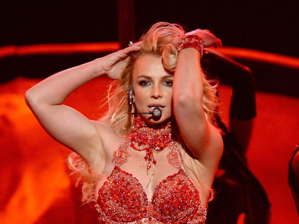 Britney Spears actuando en 2017 (Getty Images)