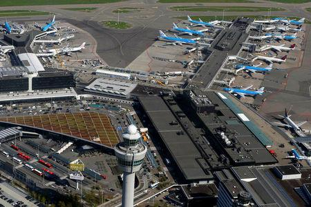 Amsterdam's Schiphol scraps flights as storm disrupts public transport