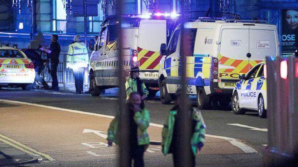 PHOTO: Police and other emergency services are seen near the Manchester Arena after reports of an explosion, May 22, 2017. (Joel Goodman/LNP/REX/Shutterstock)