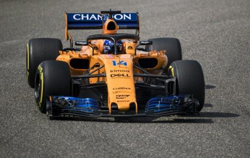 McLaren's Spanish driver Fernando Alonso steers his car during Formula One Chinese Grand Prix in Shanghai on April 15, 2018