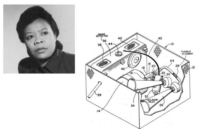 Marie Van Brittan Brown invented the first closed circuit TV security system in 1966.