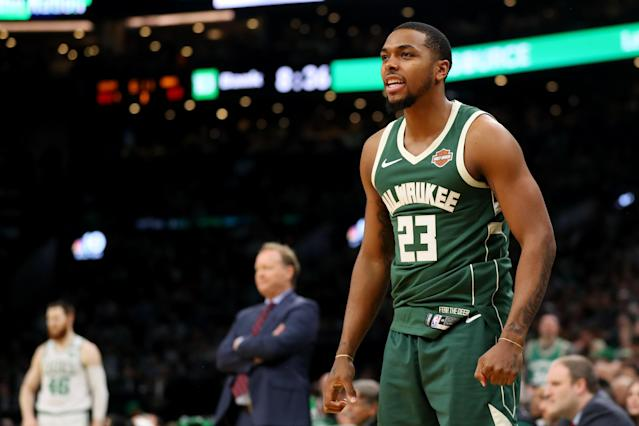 Sterling Brown has no regrets turning down a $400,000 settlement offer from the city of Milwaukee after an incident in a Walgreens parking lot last January. (Maddie Meyer/Getty Images)