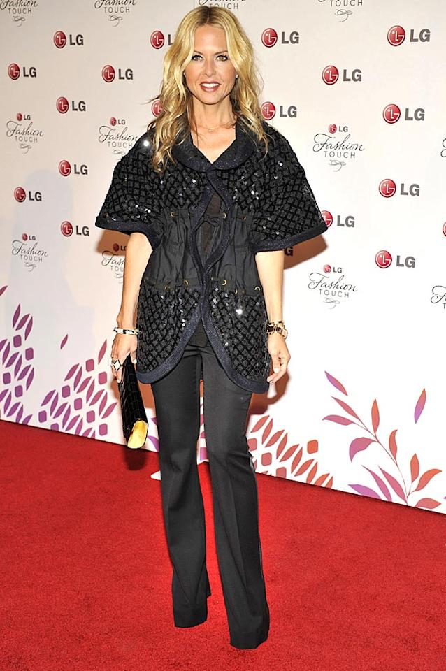 "Stylist to the stars Rachel Zoe donned an embellished statement jacket, black pencil trousers, and a hungry face. Toby Canham/<a href=""http://www.gettyimages.com/"" target=""new"">GettyImages.com</a> - May 24, 2010"