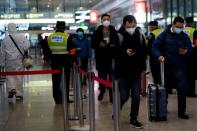 Travel season ahead of the Chinese Lunar New Year, at a railway station in Shanghai