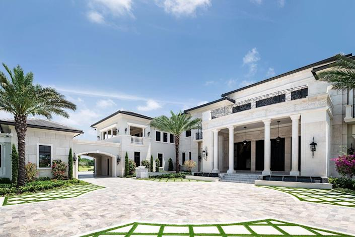 """The 31,000 square-foot home is """"an ode to both modern classicism and throwback glamour."""""""