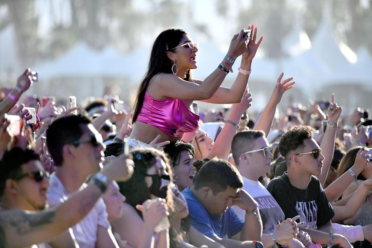 Fans attend Weekend 1, Day 3 of the Coachella Valley Music and Arts Festival on April 14, 2019 in Indio, California. (Photo credit: Scott Dudelson/Getty Images for Coachella)