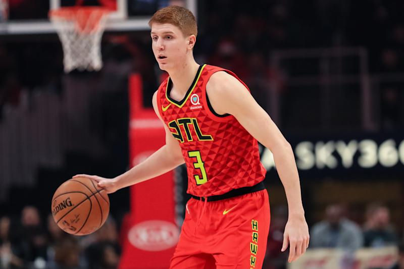Kevin Huerter #3 of the Atlanta Hawks