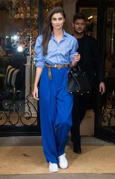 PHOTO: Model Taylor Marie Hill is seen leaving Ralph Lauren Spring/Summer 2019 fashion show during New York Fashion Week, Feb. 7, 2019, in New York. (Gilbert Carrasquillo/GC Images via Getty Images)