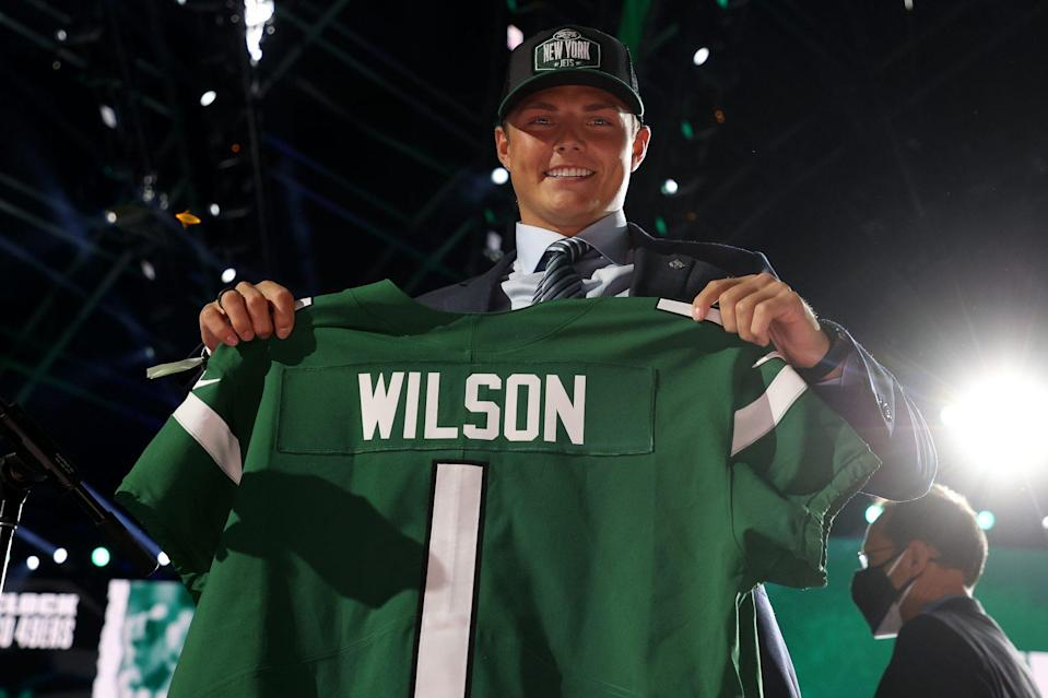 <p>Quarterback Zach Wilson, who played at Brigham Young University, was drafted by the New York Jets.</p>