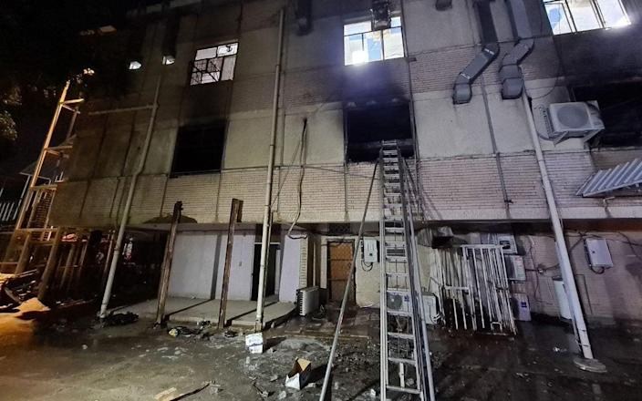 At least 23 dead in fire after 'oxygen tank explosion' at Covid hospital in Iraq