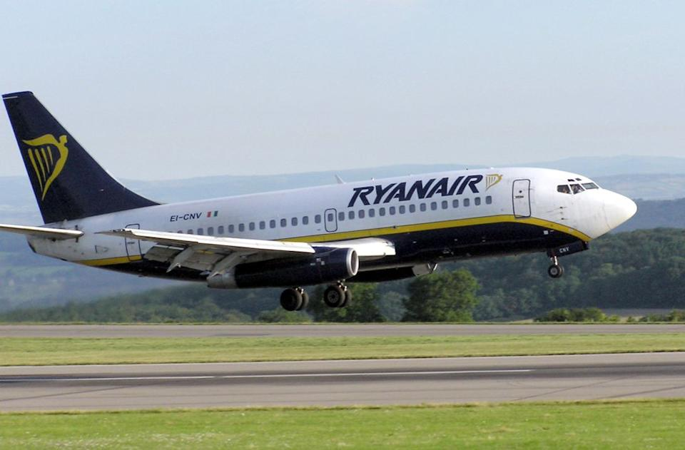 A British passenger died on a Ryanair flight as it prepared to take off (Wikipedia/stock photo)