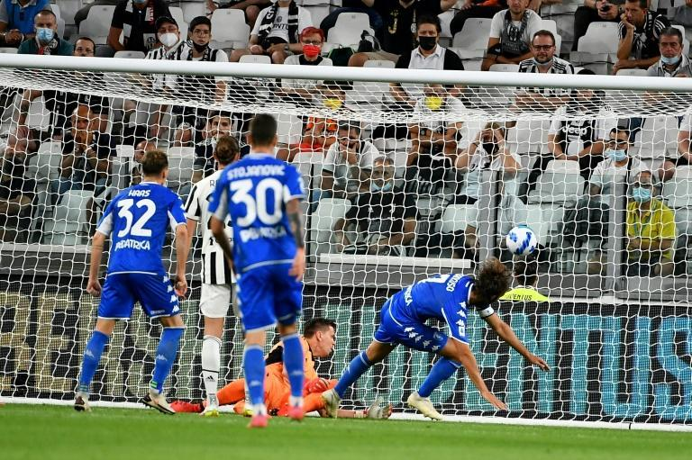 Leonardo Mancuso's first-half strike stunned Juventus in their first match without Cristiano Ronaldo (AFP/Isabella BONOTTO)