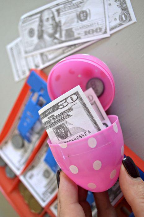 """<p>If your kids appreciate a good prank, hide some joke eggs among the real ones. Whether super-glued shut or filled with fake money or fruits and veggies, they're sure to get a few laughs.</p><p><strong>Get the tutorial at <a href=""""https://hip2save.com/2018/02/19/fun-and-funny-diy-april-fools-day-easter-egg-hunt/"""" rel=""""nofollow noopener"""" target=""""_blank"""" data-ylk=""""slk:Hip2Save"""" class=""""link rapid-noclick-resp"""">Hip2Save</a>.</strong></p><p><strong><a class=""""link rapid-noclick-resp"""" href=""""https://www.amazon.com/Plastic-Printed-Stuffers-Classroom-Supplies/dp/B082XKQ4KH/ref=sr_1_4?dchild=1&keywords=easter+eggs&qid=1614113086&sr=8-4&tag=syn-yahoo-20&ascsubtag=%5Bartid%7C10050.g.4083%5Bsrc%7Cyahoo-us"""" rel=""""nofollow noopener"""" target=""""_blank"""" data-ylk=""""slk:SHOP EASTER EGGS"""">SHOP EASTER EGGS</a><br></strong></p>"""