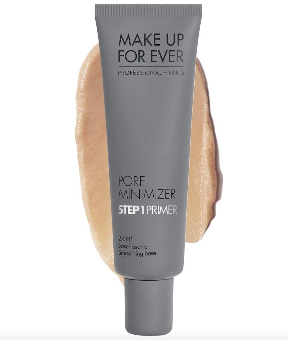 """<p>""""<span>Make Up For Ever Step 1 Primer Pore Minimizer</span> ($37) helps to mattify skin and minimize excessive oil for keeping shine at bay. It also works as a filler for a smooth, even texture - it works wonders on large pores and those deep forehead lines."""" - <span>Kelli J. Bartlett</span>, director of artistry at Glamsquad</p>"""