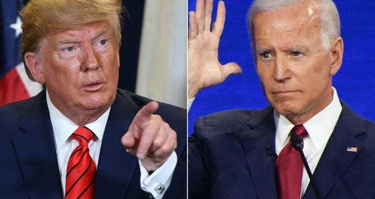 Donald Trump is accused of pressing Kiev to investigate his potential rival for the White House in 2020, Joe Biden (AFP Photo/SAUL LOEB, Robyn BECK)