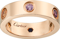 """<p><a class=""""link rapid-noclick-resp"""" href=""""https://www.cartier.com/Item/Index?cod10=25372685655721569&siteCode=CARTIER_GB&langId=4"""" rel=""""nofollow noopener"""" target=""""_blank"""" data-ylk=""""slk:SHOP NOW"""">SHOP NOW</a></p><p>Cartier's iconic Love ring in rose gold has six precious gems set into its band, including a purple amethyst. </p><p>Rose gold, amethyst, sapphire and garnet ring, £2,620, <a href=""""https://www.cartier.com/en-gb"""" rel=""""nofollow noopener"""" target=""""_blank"""" data-ylk=""""slk:Cartier"""" class=""""link rapid-noclick-resp"""">Cartier</a>.</p>"""