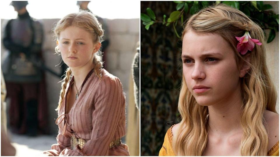 """<p>Nope, ha, still not done with <em>Game of Thrones</em>. The show replaced Aimee Richardson with Nell Tiger Free in season 5—and get this mess: Apparently, Aimee learned about her recasting during a San Diego Comic-Con panel ahead of the fifth season and <a href=""""https://news.avclub.com/game-of-thrones-actress-reacts-to-being-recast-by-looki-1798270819"""" rel=""""nofollow noopener"""" target=""""_blank"""" data-ylk=""""slk:posted a photo of herself holding a """"princess for hire"""" sign in response"""" class=""""link rapid-noclick-resp"""">posted a photo of herself holding a """"princess for hire"""" sign in response</a>.</p>"""