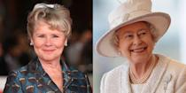 """<p>When season four wraps, <em>Harry Potter </em>actress Imelda Staunton will become the next star to play the reigning monarch. When her casting was announced, <a href=""""https://www.oprahmag.com/entertainment/tv-movies/a30728358/the-crown-season-5-cast-release-date-photos-news/"""" rel=""""nofollow noopener"""" target=""""_blank"""" data-ylk=""""slk:Imelda said"""" class=""""link rapid-noclick-resp"""">Imelda said</a>, """"I have loved watching <em>The Crown</em> from the very start...I am genuinely honored to be joining such an exceptional creative team and to be taking <em>The Crown</em> to its conclusion.""""</p>"""