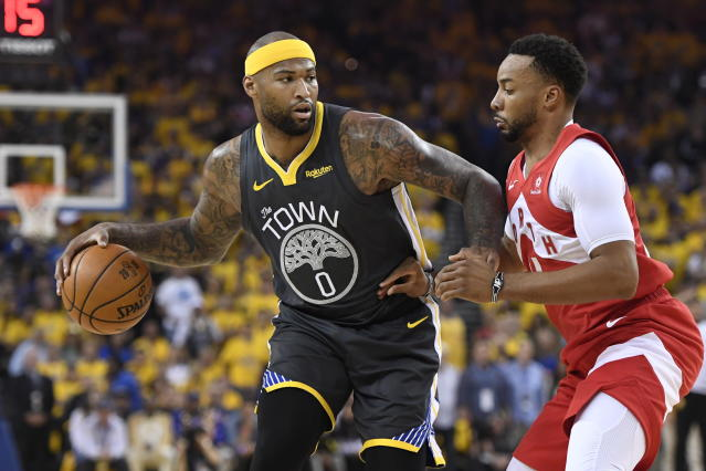 There's an outside chance DeMarcus Cousins could return to the Warriors. (Frank Gunn/The Canadian Press via AP)