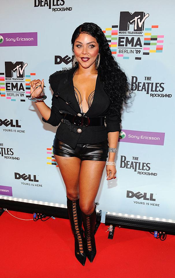 """Lil Kim was far from fly in this scary getup! Kevin Mazur/<a href=""""http://www.wireimage.com"""" target=""""new"""">WireImage.com</a> - November 5, 2009"""