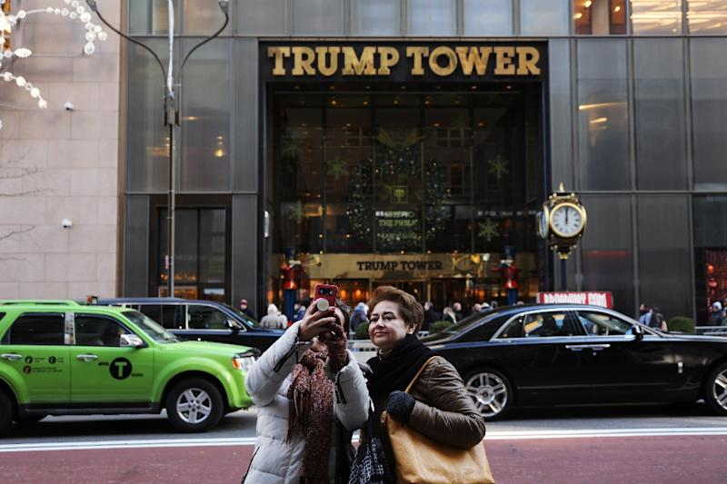 Trump Tower, the headquarters of President Donald Trump's real estate business in New York (AFP Photo/SPENCER PLATT)