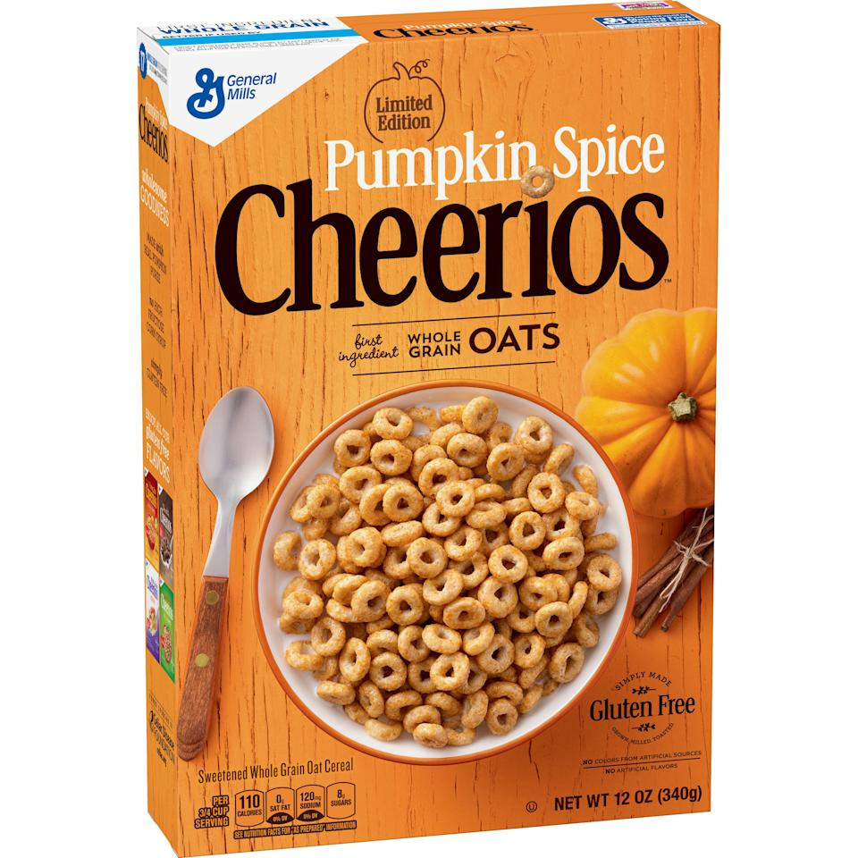"The same Cherrios you know and love but all dressed up in pumpkin flavor.   <strong>BUY IT!</strong> $2.99; <a href=""http://goto.target.com/c/249354/81938/2092?subId1=PEO%2CACompleteGuidetoAllthePumpkin-FlavoredFoodsAvailableThisYear%2Cjessfect%2CUnc%2CGal%2C6460477%2C201810%2CI&u=https%3A%2F%2Fwww.target.com%2Fp%2Fcheerios-pumpkin-breakfast-cereal-10-8oz-general-mills%2F-%2FA-53463013"" target=""_blank"" rel=""nofollow"">target.com</a>"