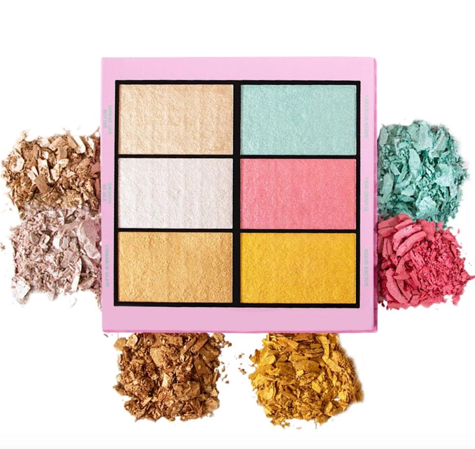 """You'llfind all sorts of ways to use these. They look bright, but they really do blend well if you're going for something a little more subtle.If you own this, you likely need no other highlighters at your disposal!<br /><br /><strong>Get it from KimChi Chic for <a href=""""https://kimchichicbeauty.com/collections/face/products/drama-queen-the-unboring-highlight-palette"""" target=""""_blank"""" rel=""""noopener noreferrer"""">$19</a>.</strong>"""