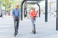 <p>They're already everywhere, right? Use an app for the rental. Then roll through your city, navigate safely, and stick together. </p>