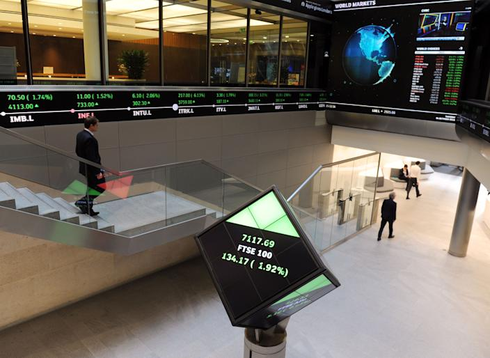 EMBARGOED TO 0001 SUNDAY OCTOBER 20 File photo dated 04/06/16 of the London Stock Exchange. Economic volatility in 2019 has seen the number of profit warnings by UK-listed firms surge to its highest since the financial crisis.