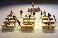 """<p><a href=""""https://www.yahoo.com/entertainment/know-special-tap-dancing-scene-122007083.html"""" class=""""link rapid-noclick-resp yahoo-link"""" data-ylk=""""slk:Tap dancers dressed as carpenters;outcm:mb_qualified_link;_E:mb_qualified_link;ct:story;"""">Tap dancers dressed as carpenters</a> performed to a traditional work song called the """"Kiyari Uta,"""" performed by members of the Edo Firemanship Preservation Association.</p>"""