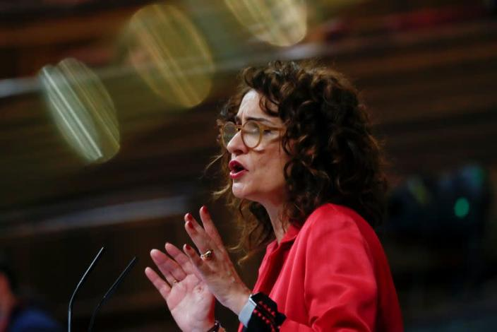 FILE PHOTO: Spain's Treasury Minister Maria Jesus Montero attends a session at Parliament in Madrid